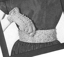 Crocheted Belt and Gloves