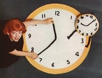 Crocheted Clock and Rug