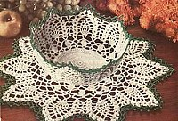 Crocheted Bowl and Doily Pattern