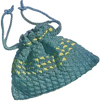 Crocheted Drawstring Bag
