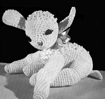 Crocheted Stuffed Lamb
