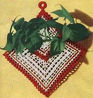 Crocheted Plant Holder Decor Pattern