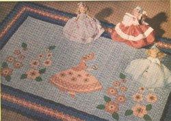 Sunbonnet Sue Crocheted Rug
