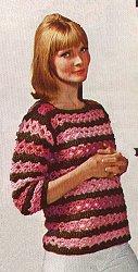 Long sleeve sweater crochet pattern